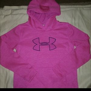 PINK YOUTH LARGE PINK UNDER ARMOUR HOODIE